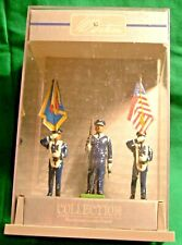 Britains. 1=32 Soldiers. U.S. Army 4 Figures in display case. Mint condition.