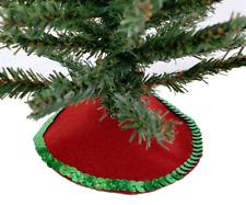 Puppenhaus Rot Weihnachten Baum Rock Miniatur 1:12 Maßstab Weihnachten Zubehör