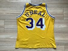 NBA LOS ANGELES LAKERS BASKETBALL SHIRT JERSEY CHAMPION #34 SHAQUILLE O'NEAL