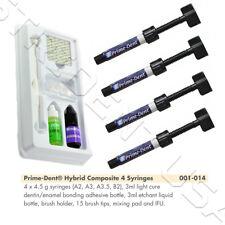 Prime Dent Light Cure Hybrid Composite Kit A2,A3,A3.5,B2 with Bonding 001-014