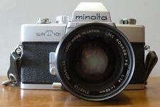 Vintage minolta srt 101 camera with Rokkor -PG 50mm lens with case