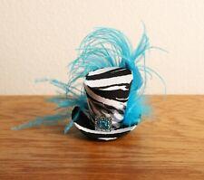Tiny Top Hat / Mini Top Hat / Zebra / Blue Feather / Blue Jewel