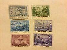 1951 commemorative set, US 998-1003, 6 stamps MNH