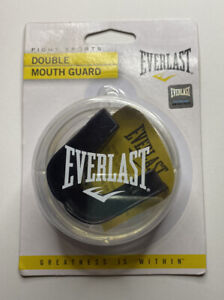 New Everlast Double Mouth Guard (Black) For All Contact Sports Lightweight