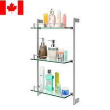 LIVINGbasics® 3-Tier Tempered Glass Bathroom Shelf Wall Mounted Shower Storage