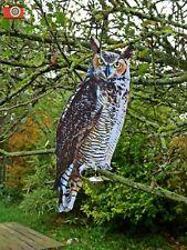 A METAL OWL BIRD SCARER FOR HUMANE PEST CONTROL, SCARECROW