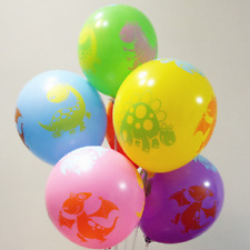 10pcs Dinosaur Balloon Party Supplies Decor Printed Balloons Kid Toys
