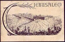 Israel / Palestine Jerusalem B/W Postcard Islam Muslim