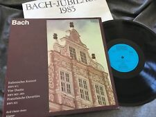 BACH Italian Cto, Duets, French Overture: ARENS Piano ETERNA STEREO BLUE ED1 NM
