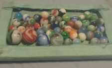 LOT of 50 Vintage Marbles Assorted