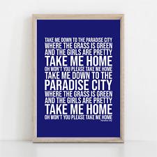 More details for guns n' roses paradise city song lyrics poster print wall art