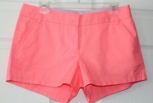 J CREW Chino shorts size 6 neon pink cotton NWT inseam 3 inches