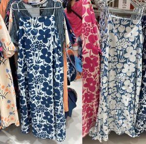 NWT UNIQLO X MARIMEKKO 2021 WOMEN DENIM CAMISOLE DRESS LIMITED