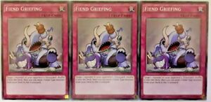 X3 FIEND GRIEFING CROS-EN076 1ST EDITION COMMON CARDS NM