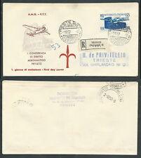 1952 TRIESTE A FDC ICAO TIMBRO DI ARRIVO - BF