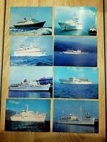 """Set of 8 Soviet PostCards """" Ships"""" USSR Ships"""