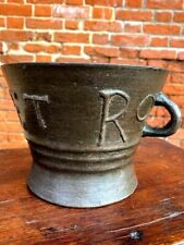 Late 16th Century English Antique Leaded Bronze Mortar by Robert Orrell of Wigan