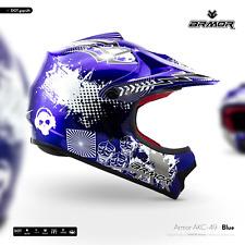 ARMOR  AKC-49 blue Cross-Helm Kinder-Helm Cross-Bike Enduro MX BMX - XS S M L XL