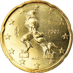 [#883426] Italie, 20 Euro Cent, 2002, Rome, BU, FDC, Laiton, KM:214