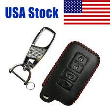 Leather Key Fob Cover Protector for Toyota Camry Avalon Corolla RAV4 Highlander