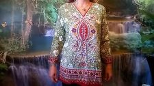 HIPPY FUNKY BOHO TUNIC BEACH TOP SUMMER FESTIVAL ETHNIC CHIC TUNIC KAFTAN SD105