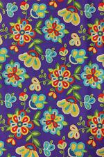 Native American beaded pattern cotton purple fabric