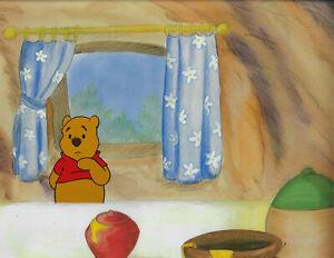Disney Winnie the Pooh 1980's Original Production Cel Set- 2 Cels