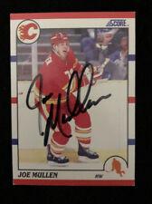 JOE MULLEN 1990 SCORE AUTOGRAPHED SIGNED AUTO HOCKEY NHL CARD 208 FLAMES