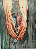 Salvador Dali: Hölle 16 - Holz Graviert Original #1960-1963# Göttliche Komödie