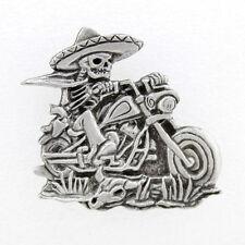 Sombrero Skeleton Rider  JACKET VEST OUTLAW MC BIKER PIN