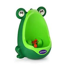 Aomomo Frog Potty Training Urinal for Boys Toilet with Funny Aiming Target Green