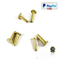 "SD Cutlers Cutlery Rivets 5/16"" x 1/2"" Knife Making Handle Pins Brass - 6 sets"