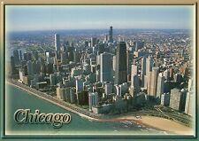 Aerial View of Chicago, Illinois, Northshore Drive, Lake Michigan etc - Postcard