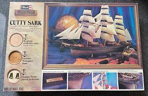 CUTTY SARK MODEL CLIPPER SHIP (REVELL) - MAHOGANY - 91cm x 56cm