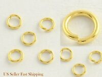 8mm x .8mm 20 Gauge Gold Plated Stainless Steel Jump Rings Findings Connector
