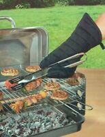 Grillschürze Schürze Grillhandschuh 100% Baumwolle Kochschürze Küchenschürze