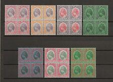 MALAYA/PERAK 1935-41 SG 88/102 MNH Blocks Cat £1000