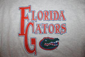 NEW Vtg 1990's FLORIDA GATORS BIG LOGO Crew Neck SWEATSHIRT Gray Sz Large  TAG