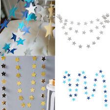 2M Strings Star Shape Banner Wedding Birthday Party Hanging Decor Paper Garland