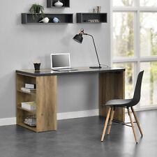 [en.casa]® Schreibtisch 140x68x77cm Bürotisch Arbeitszimmer Ablagefach Fächer