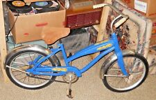 """VINTAGE 1950'S KID'S BIKE BICYCLE HARD RUBBER TIRES LEATHER SEAT 12"""" FRAME"""