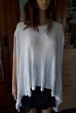 Imonni designer summer white knit poncho NWT