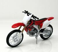 Modell Motorrad 1:12  Honda CRF 450R rot-weiß Maisto