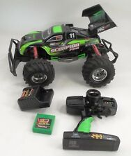 VGUC New Bright Scorpion Pro Remote Control RC Car Vehicle Green w/ Red Lifters