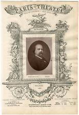 Lemercier et Cie, Paris-Théâtre, Thomas Salvini (1829-1915), acteur  Vintage Alb