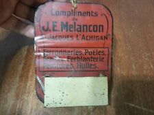 Vintage advertising j.e melancon metal match quebec  box holder stove