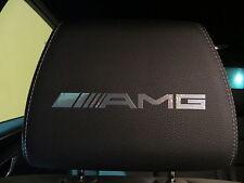 (4pcs) Headrest badge sticker decal *AMG*