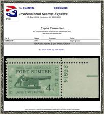 #1178, Fort Sumter, MNH PSE Graded 100, Cert # 01340941