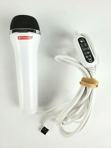 Konami Logitech E-UR20 USB Console White Microphone Wii PS2 PS3 Xbox