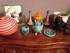 Van Briggle Vase Ash Tray Pottery American Art Pottery Matte Blue Art Deco